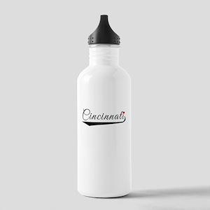 Cincinnati Heart Logo Water Bottle