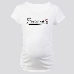 Cincinnati Heart Logo Maternity T-Shirt