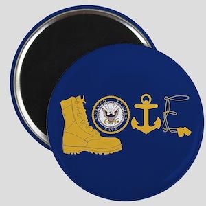 Navy Love Magnet