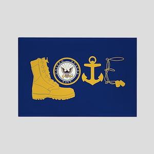 Navy Love Rectangle Magnet