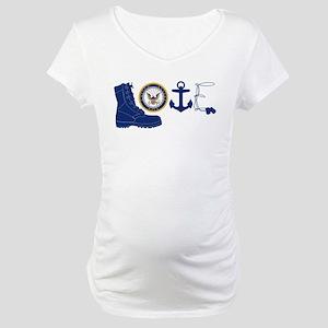 Navy Love Maternity T-Shirt