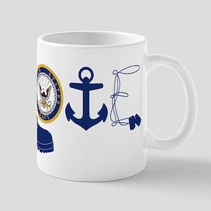Navy Love Mug