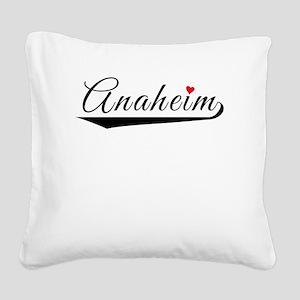 Anaheim Heart Logo Square Canvas Pillow