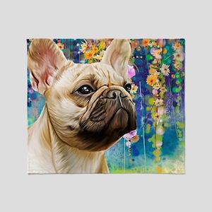 French Bulldog Painting Throw Blanket