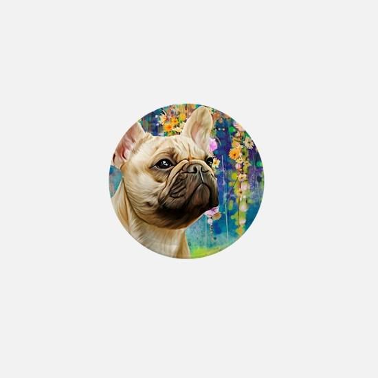 French Bulldog Painting Mini Button