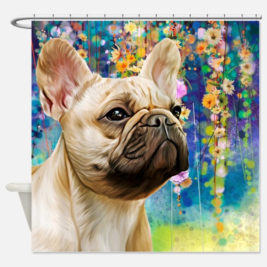 French Bulldog Painting Shower Curtain