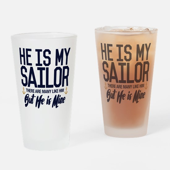 He is My Sailor Drinking Glass
