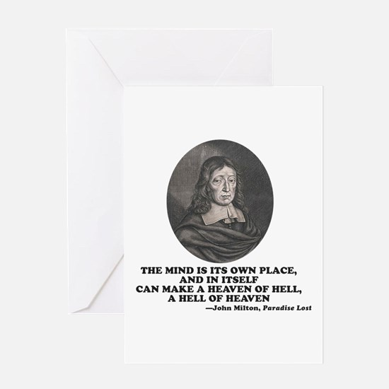 Milton Heaven of Hell Paradise Lost Quote Greeting
