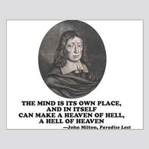 Milton Heaven of Hell Paradise Lost Quote Posters