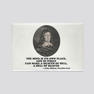 Milton Heaven of Hell Paradise Lost Quote Magnets
