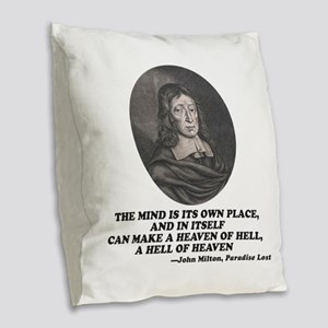 Milton Heaven of Hell Paradise Lost Quote Burlap T
