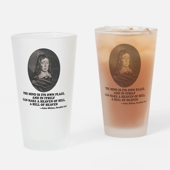 Milton Heaven of Hell Paradise Lost Quote Drinking