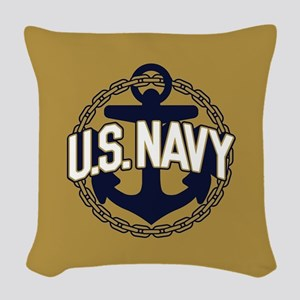 U.S. Navy Seal Woven Throw Pillow