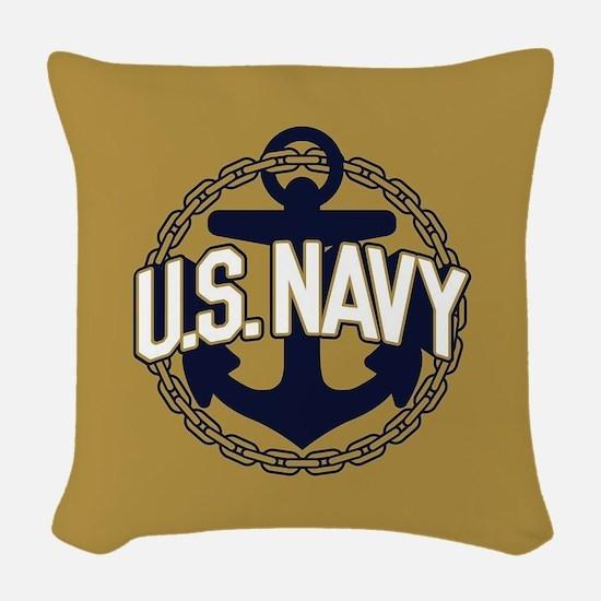 U.S. Navy Seal Woven Throw Pillow