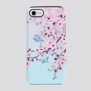 Cherry Blossom with Butterfl iPhone 8/7 Tough Case