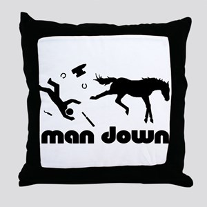 man down horseshoer Throw Pillow