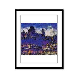 Quebec starry night Framed Panel Print