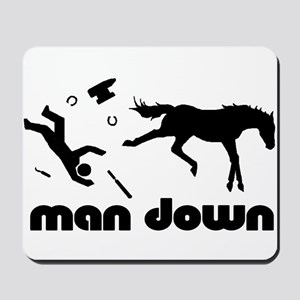 man down horseshoer Mousepad
