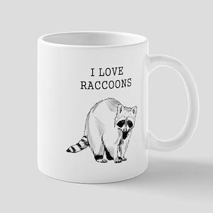 I Love Raccoons Mugs