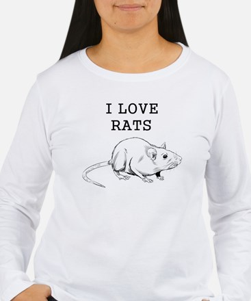 I Love Rats Long Sleeve T-Shirt