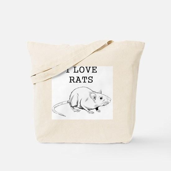 I Love Rats Tote Bag