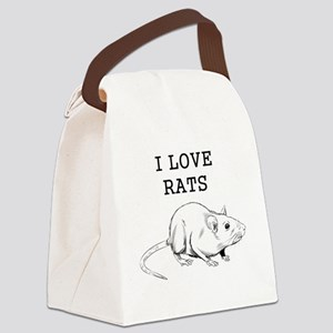 I Love Rats Canvas Lunch Bag