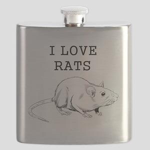 I Love Rats Flask