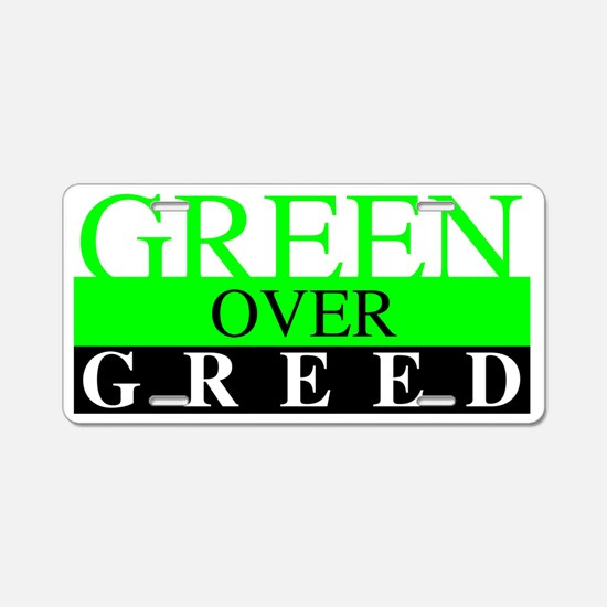 Greed Aluminum License Plate