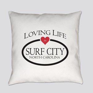 Loving Life in Surf City, NC Everyday Pillow