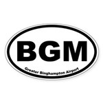 Greater Binghampton Airport Oval Sticker