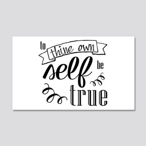 To Thing Own Self Be True Wall Decal