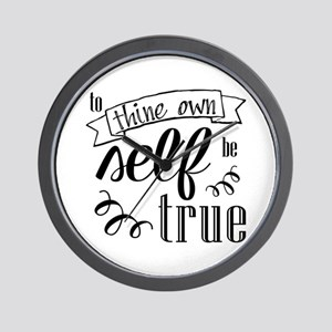 To Thing Own Self Be True Wall Clock