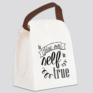 To Thing Own Self Be True Canvas Lunch Bag