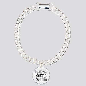 To Thing Own Self Be Charm Bracelet, One Charm