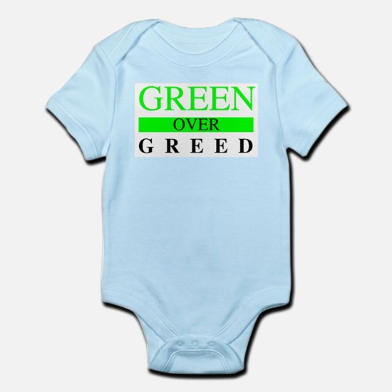 Green over Greed Body Suit