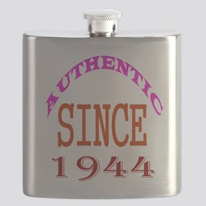 Authentic Since 1944 Birthday Designs Flask