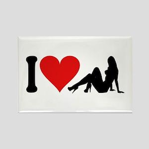 I Love Strippers (design) Rectangle Magnet