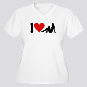 I Love Strippers (design) Women's Plus Size V-Neck