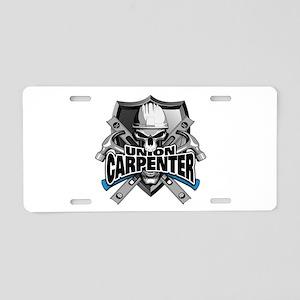 Union Carpenter Aluminum License Plate