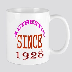 Authentic Since 1928 Birthday Designs Mug