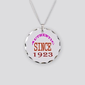 Authentic Since 1923 Birthda Necklace Circle Charm