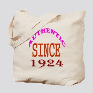 Authentic Since 1924 Birthday Designs Tote Bag
