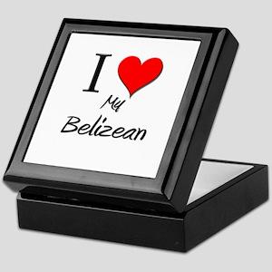 I Love My Belizean Keepsake Box