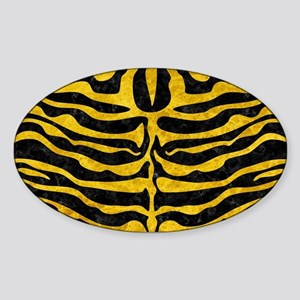 SKIN2 BLACK MARBLE & YELLOW MARBLE Sticker (Oval)
