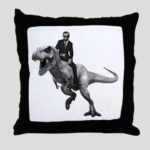 Dino Abe Throw Pillow