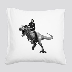 Dino Abe Square Canvas Pillow