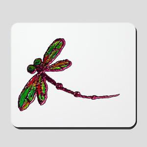 Kaleidoscopic Dragonfly Mousepad