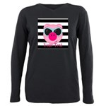 Cool Pink Pig Plus Size Long Sleeve Tee