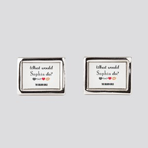 What Would Sophia Do Rectangular Cufflinks