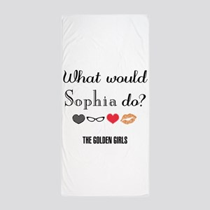 What Would Sophia Do Beach Towel